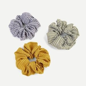 3pc Gingham Scrunchie Set